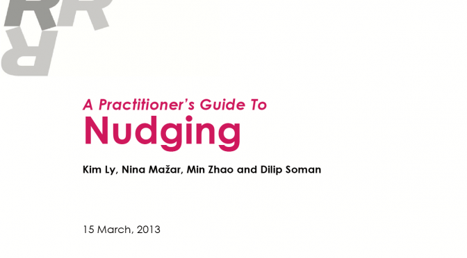 Guide: How to Nudge for Practitioners