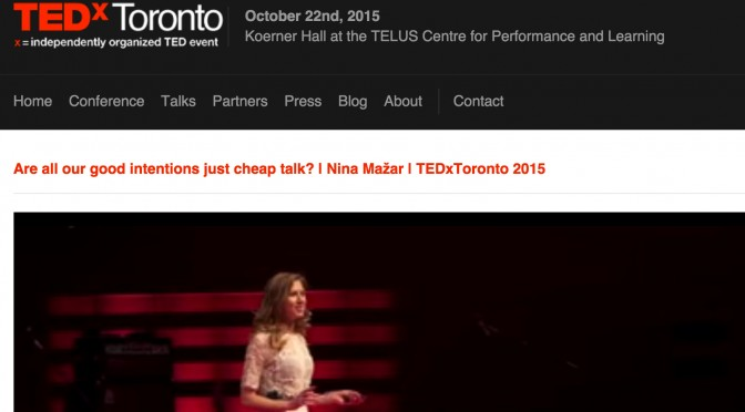 "TEDx Talk: ""Are All Our Good Intentions Just Cheap Talk?"""